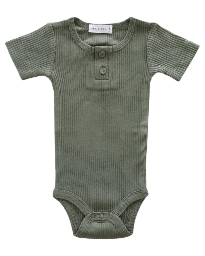 Little jamie kay baby girl nb cotton modal tee bodysuit in laurel