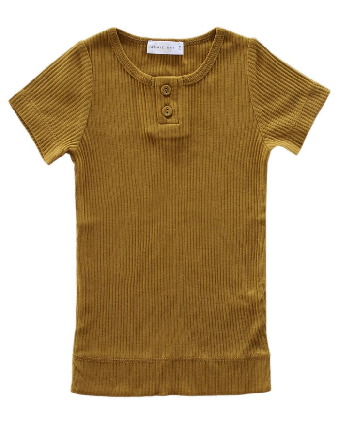 Little jamie kay boy 1y cotton modal tee in golden