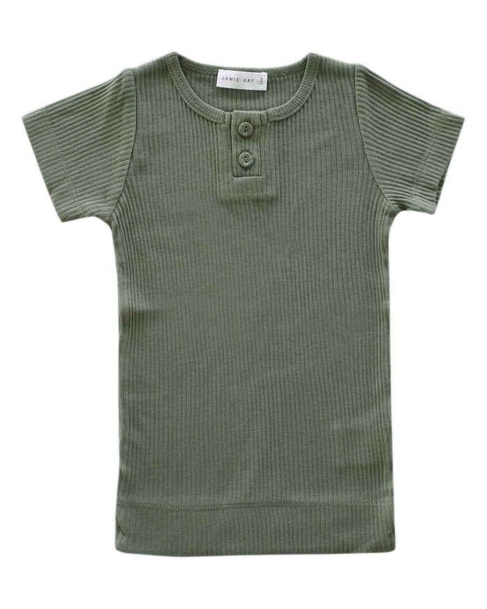 Little jamie kay boy 1y cotton modal tee in laurel