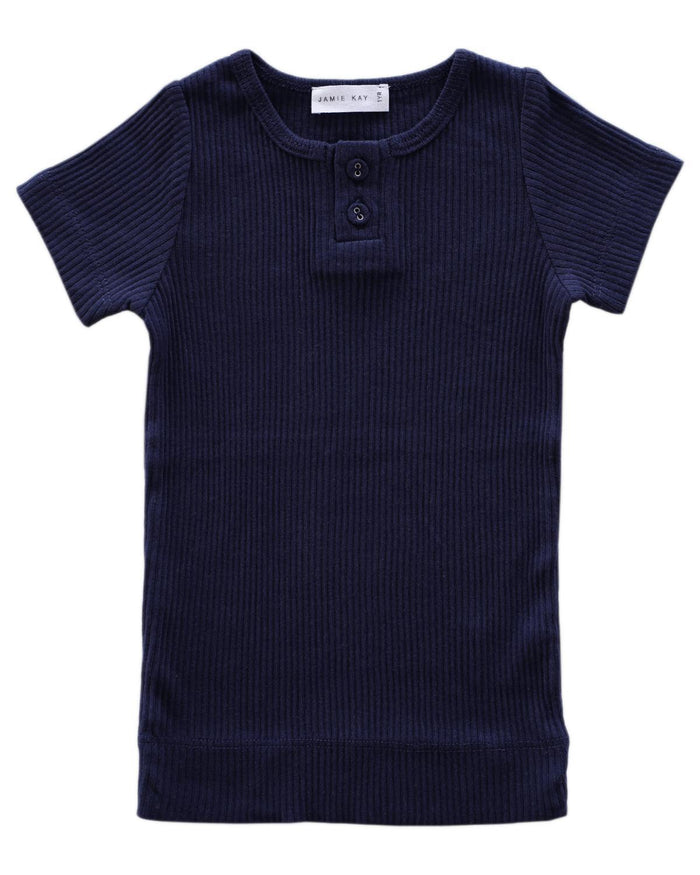 Little jamie kay boy 1y cotton modal tee in navy