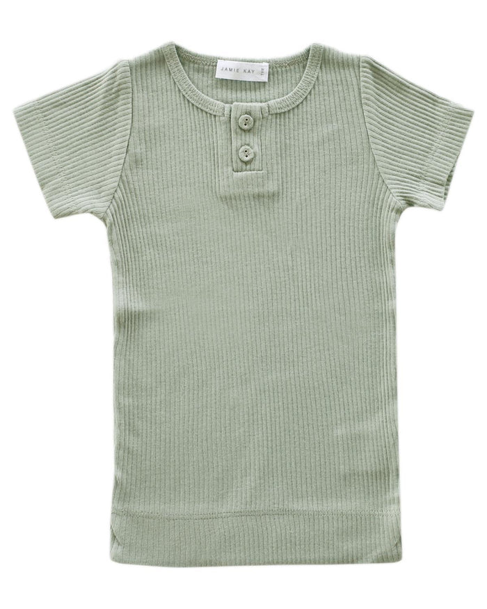 Little jamie kay boy 1y cotton modal tee in sage