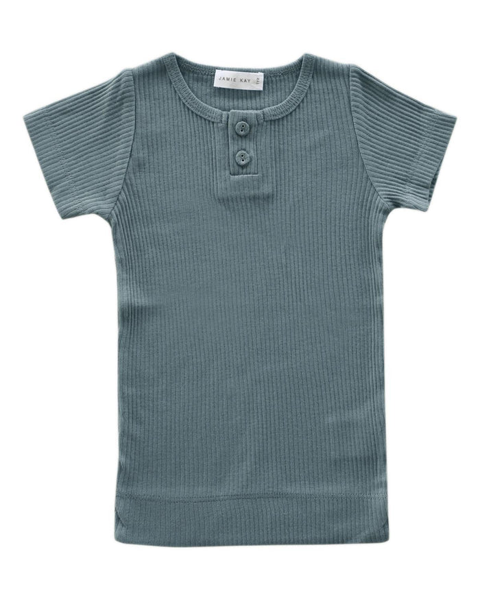 Little jamie kay boy 1y cotton modal tee in storm