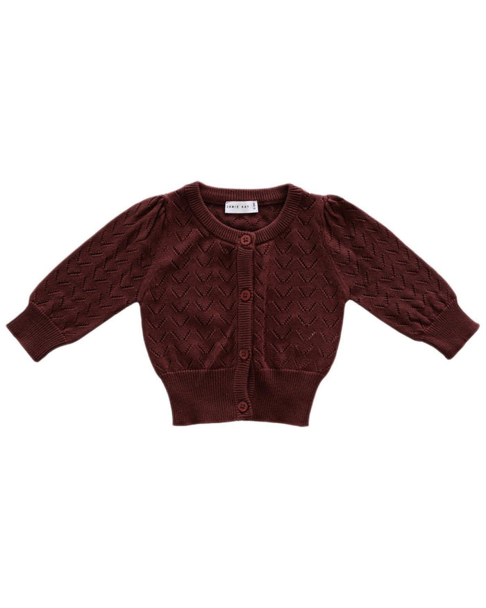 Little jamie kay girl 1y ellie cardigan in clay
