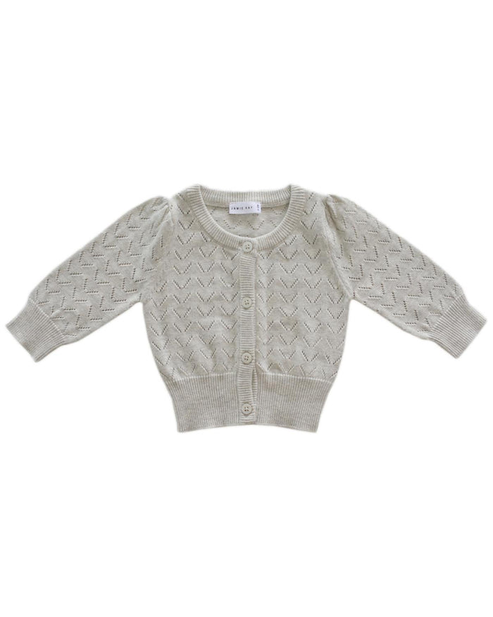 Little jamie kay girl 1y ellie cardigan in oatmeal