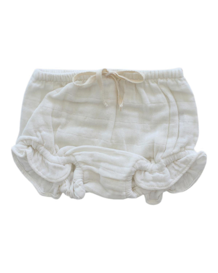 Little jamie kay baby girl 0-3 frill bloomer in coconut