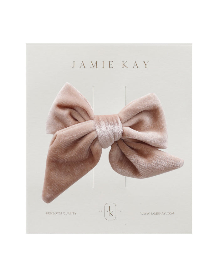 Little jamie kay accessories harper velvet bow in cloud