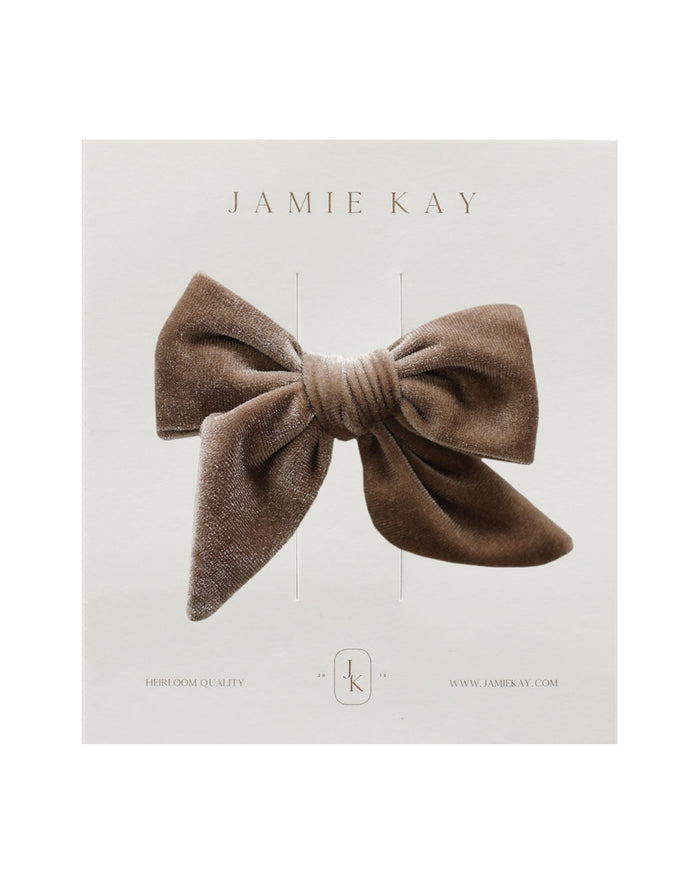 Little jamie kay accessories harper velvet bow in fawn