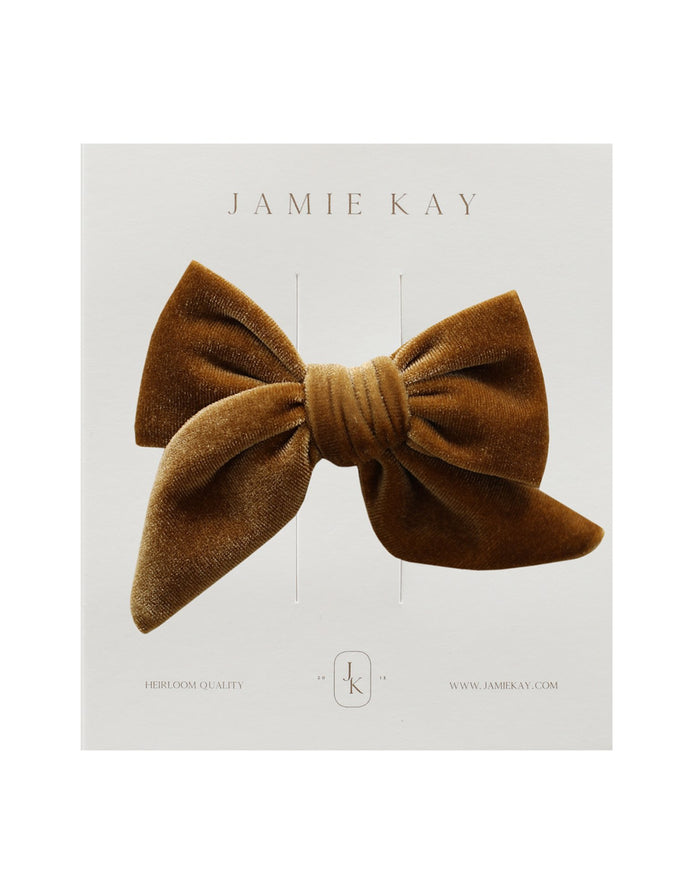 Little jamie kay accessories harper velvet bow in gold