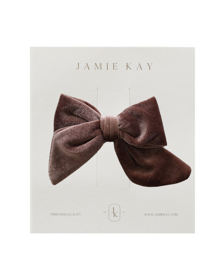 Little jamie kay accessories harper velvet bow in raspberry ice