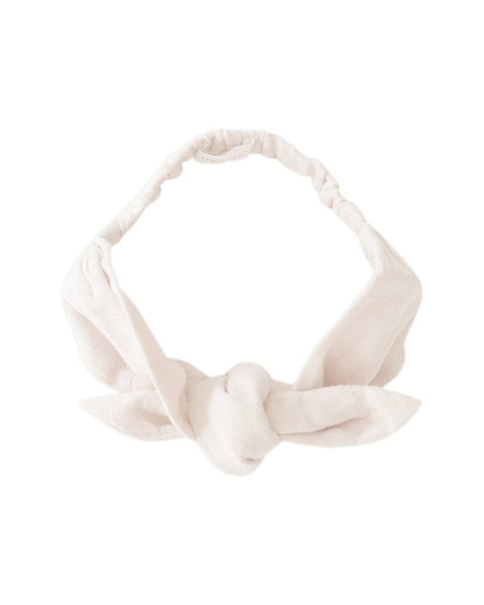 Little jamie kay accessories muslin headband in coconut