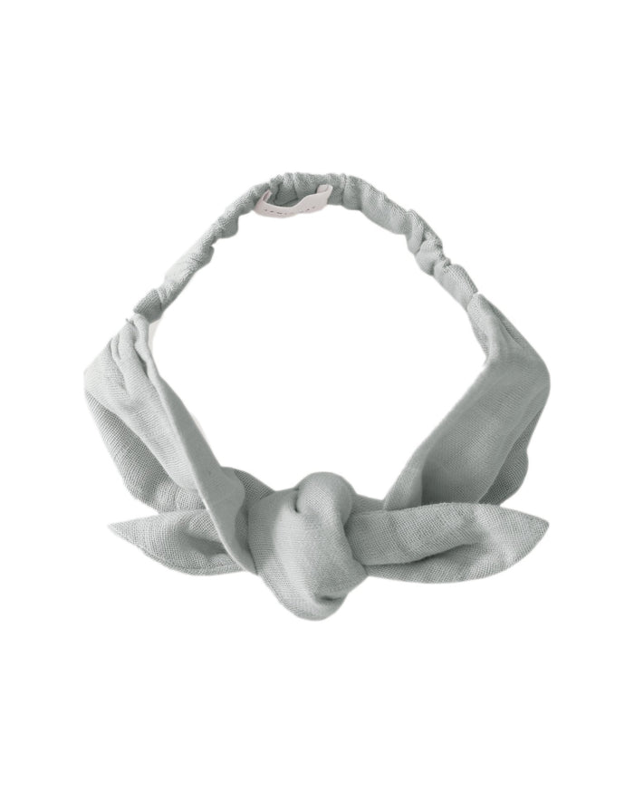 Little jamie kay accessories muslin headband in light grey