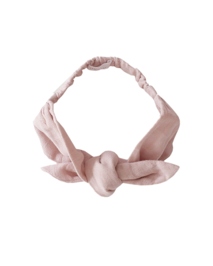Little jamie kay accessories muslin headband in rose smoke