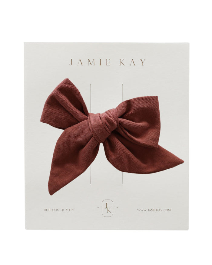 Little jamie kay accessories nova cotton bow in clay