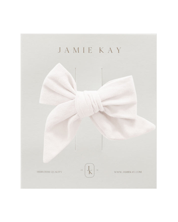 Little jamie kay accessories nova cotton bow in cloud