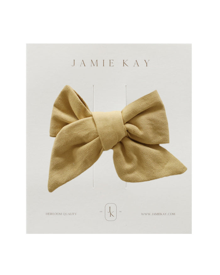 Little jamie kay accessories nova cotton bow in mellow