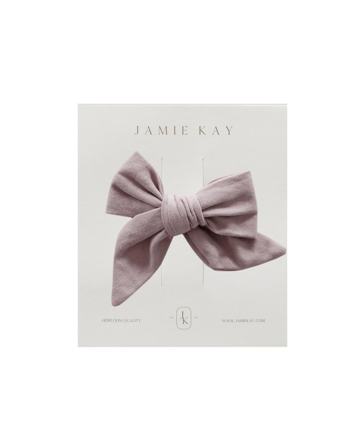 Little jamie kay accessories nova cotton bow in rosebud