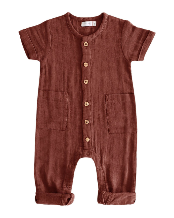 Little jamie kay baby girl ryan onepiece in clay