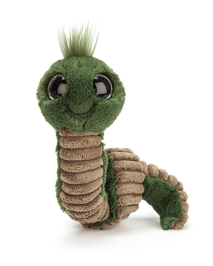 Little jellycat play green wiggly worm