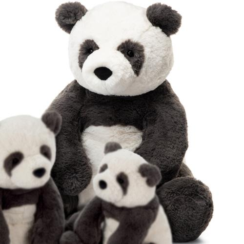 Little jellycat play huge harry panda cub