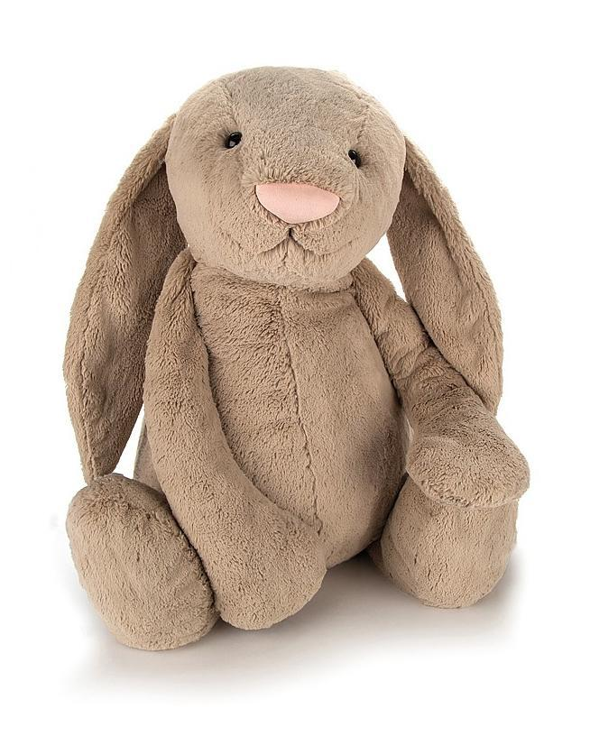 Little jellycat play medium bashful beige bunny