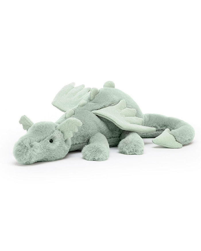 Little jellycat play sage dragon
