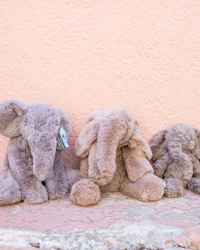 Little jellycat play squiggles grey elephant