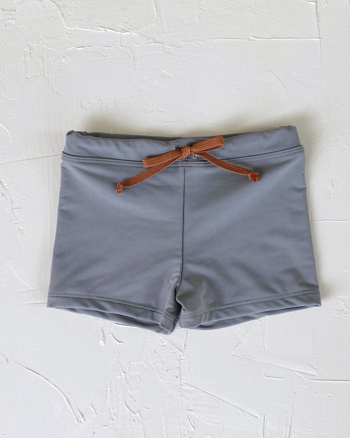 Little june park boy euro swim shorts in coastal