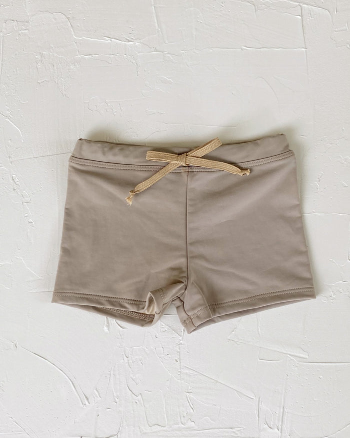 Little june park boy euro swim shorts in horizon