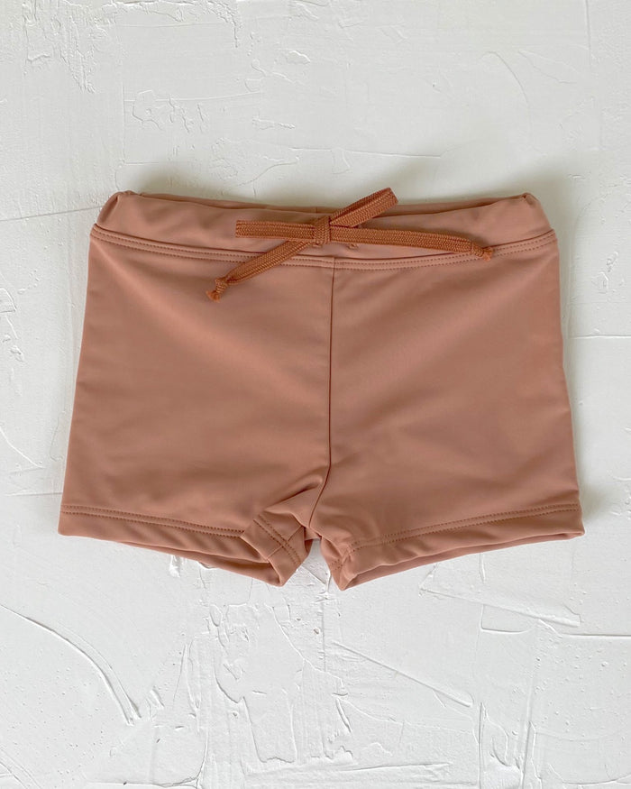 Little june park boy euro swim shorts in sunkissed