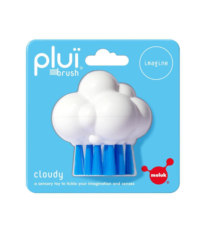 Little kid o play Cloudy Plui Brush