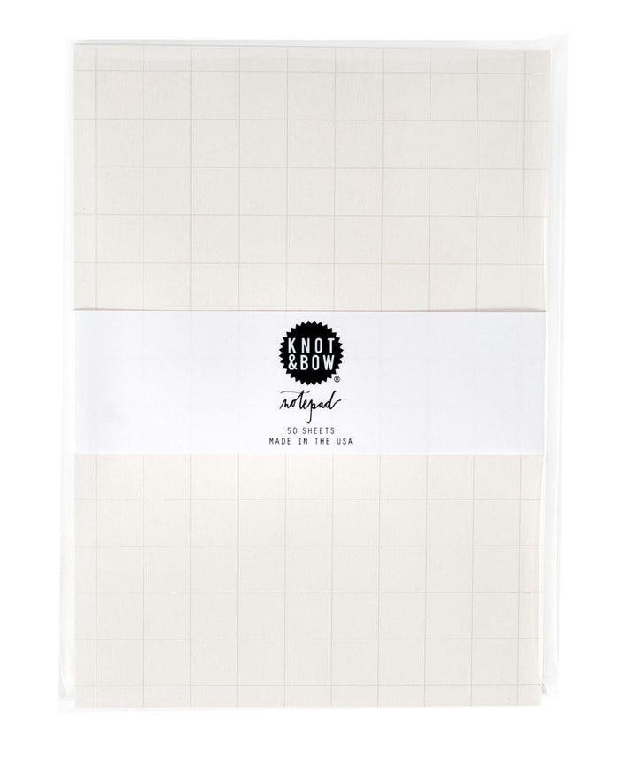 Little knot + bow paper+party Grey Grid Notepad