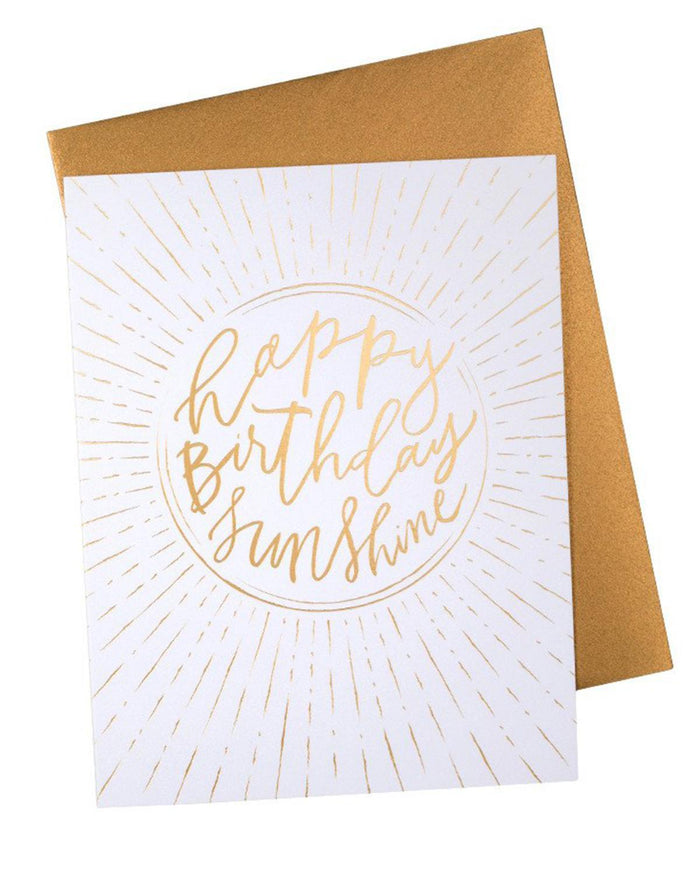 Little knot + bow paper+party Happy Birthday Sunshine Card