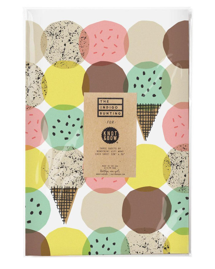 Little knot + bow paper+party Ice Cream Gift Wrap