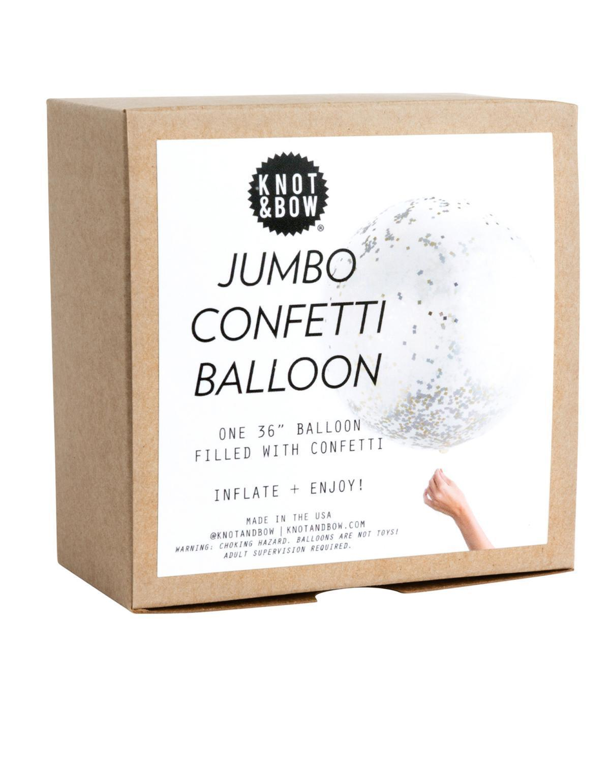Little knot + bow paper+party Jumbo Confetti Balloon in Metallic
