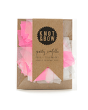 Little knot + bow paper+party Single Serving Confetti Pack in Pink