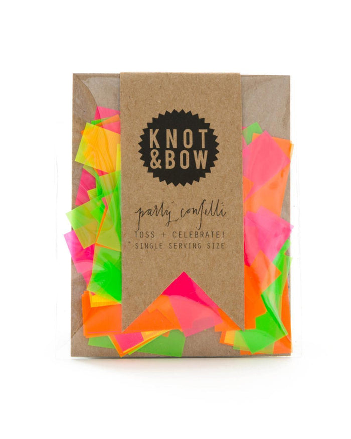 Little knot + bow paper+party Single Serving Party Confetti in Neon