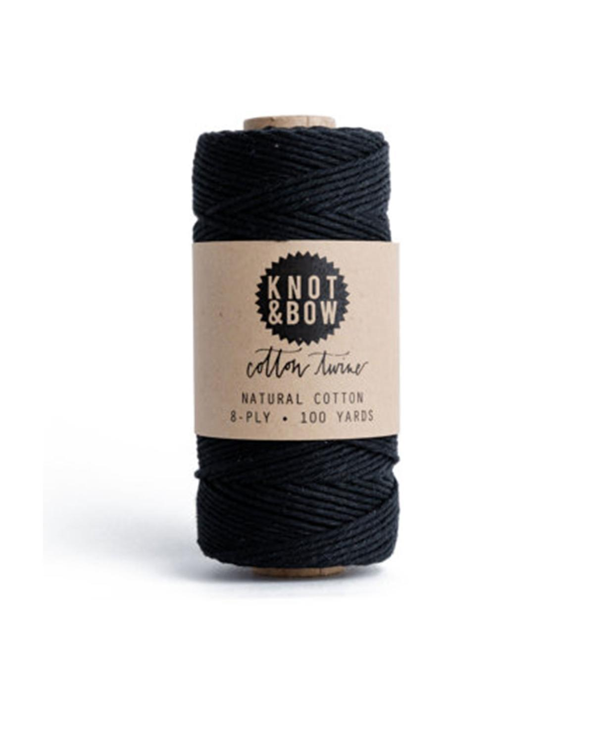 Little knot + bow paper+party Solid Twine in Black