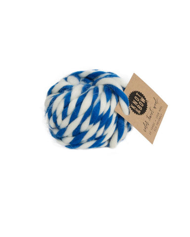 Little knot + bow paper+party Twist Wool in Cobalt