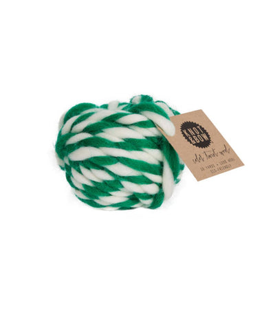 Little knot + bow paper+party Twist Wool in Emerald