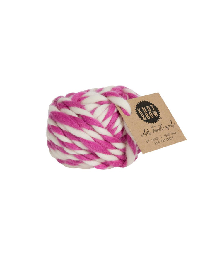 Little knot + bow paper+party Twist Wool in Fuschia