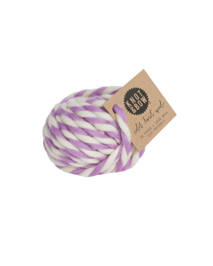 Little knot + bow paper+party Twist Wool in Lavender