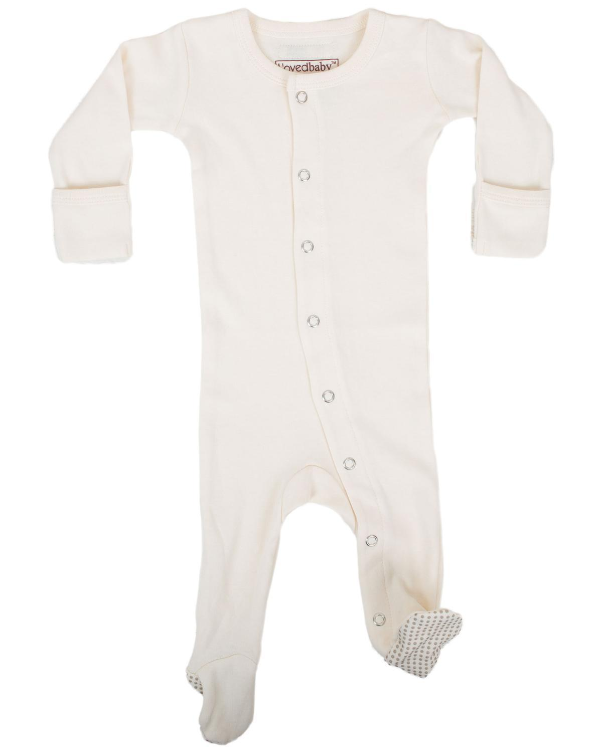 Little l'ovedbaby layette nb Footed Overall in Beige