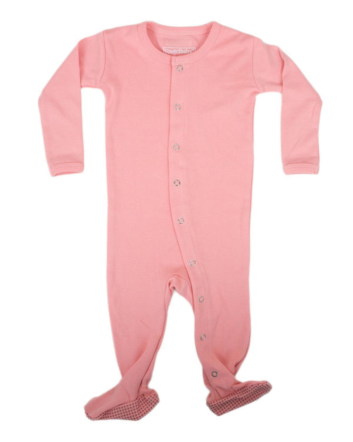 Little l'ovedbaby layette nb Footed Overall in Coral