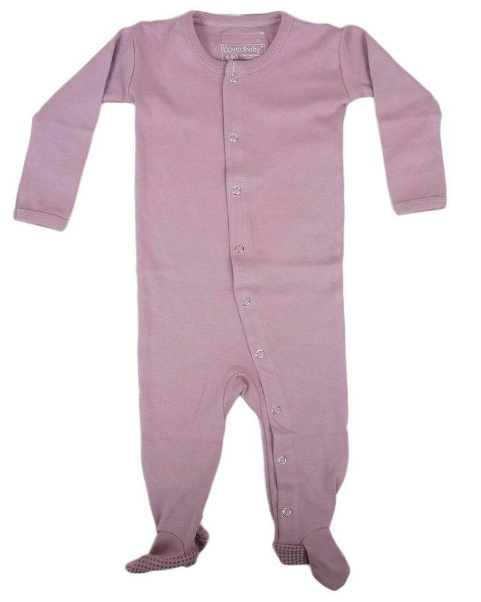 Little l'ovedbaby layette nb Footed Overall in Lavender