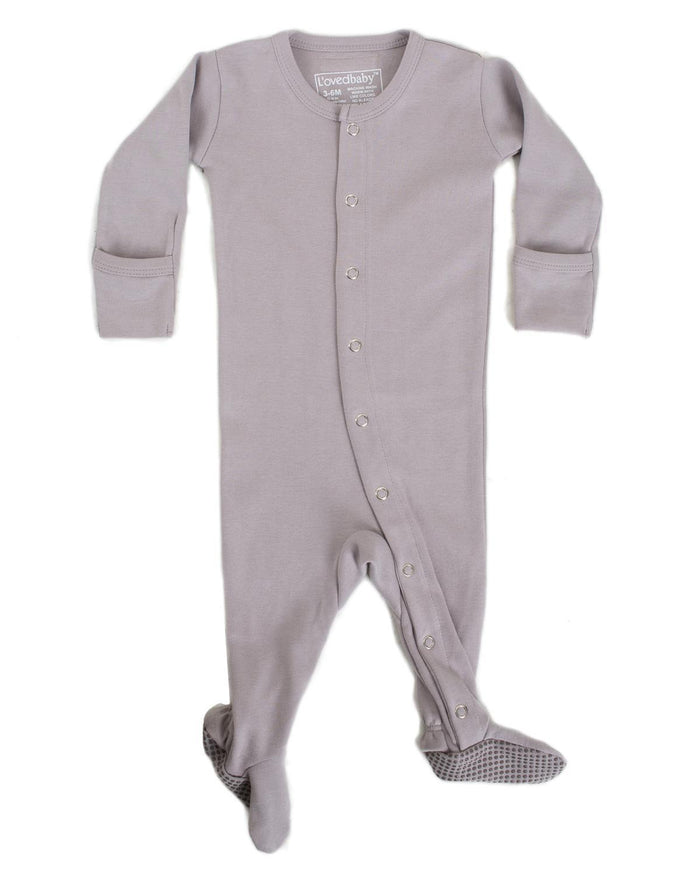 Little l'ovedbaby layette nb Footed Overall in Light Grey