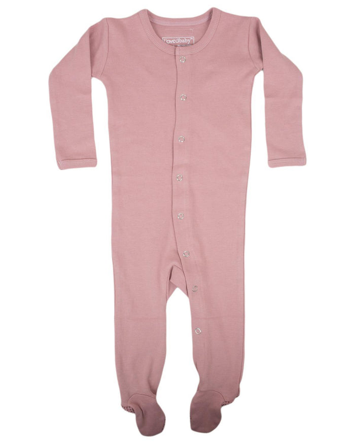 Little l'ovedbaby layette nb Footed Overall in Mauve