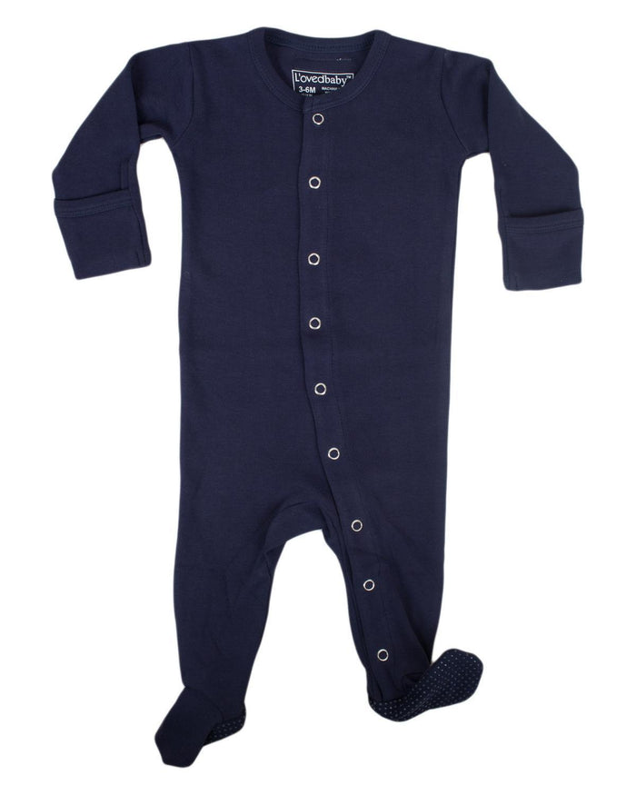 Little l'ovedbaby layette nb Footed Overall in Navy