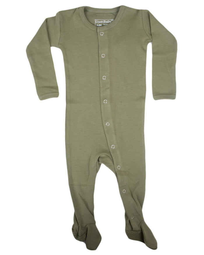 Little l'ovedbaby layette nb Footed Overall in Sage