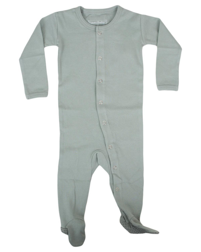 Little l'ovedbaby layette nb Footed Overall in Seafoam