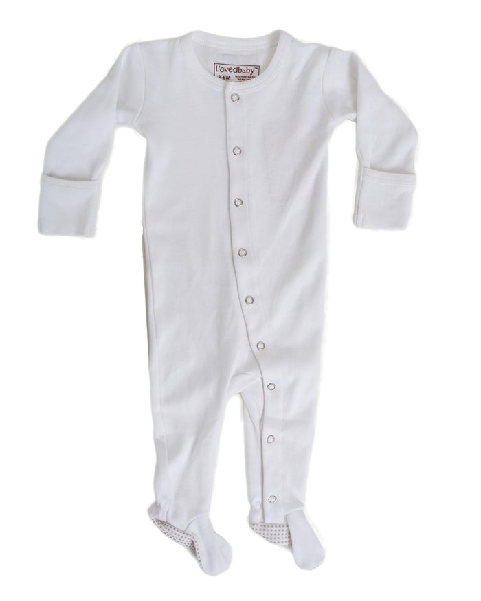 Little l'ovedbaby layette nb Footed Overall in White